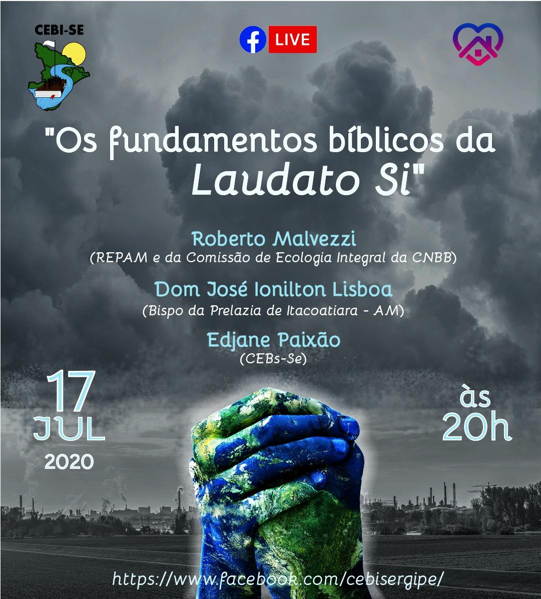 "CEBI Sergipe fará live sobre a ""Laudato Si"""