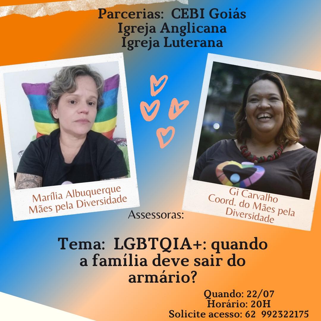CEBI Goiás debate em live o tema LGBTQI+ e família