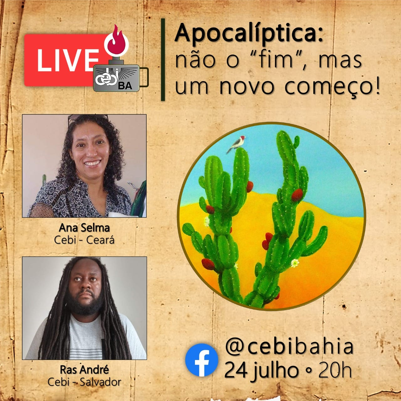 """CEBI Bahia – Apocalíptica : não o """"fim"""", mas um novo começo! (Live)"""