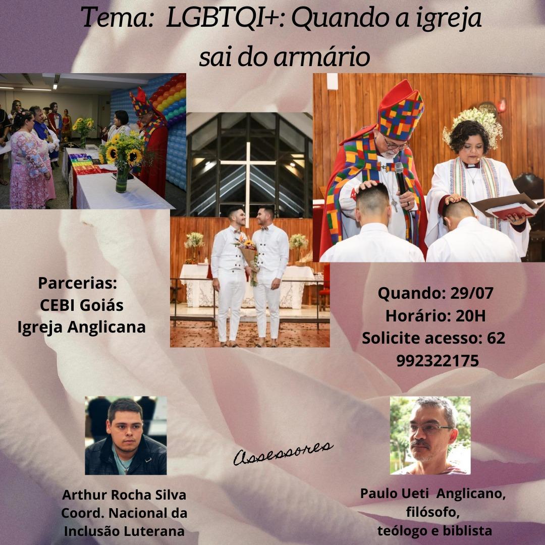 """CEBI Goiás realiza estudo sobre """"LGBTQIA+: quando a igreja deve sair do armário? """""""