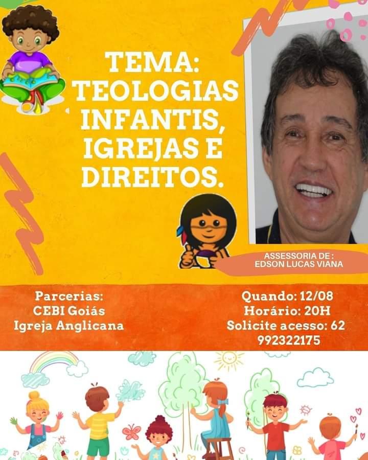 """CEBI Goiás e Igreja Anglicana realizam live sobre """" Teologias infantis, igrejas e direitos"""""""