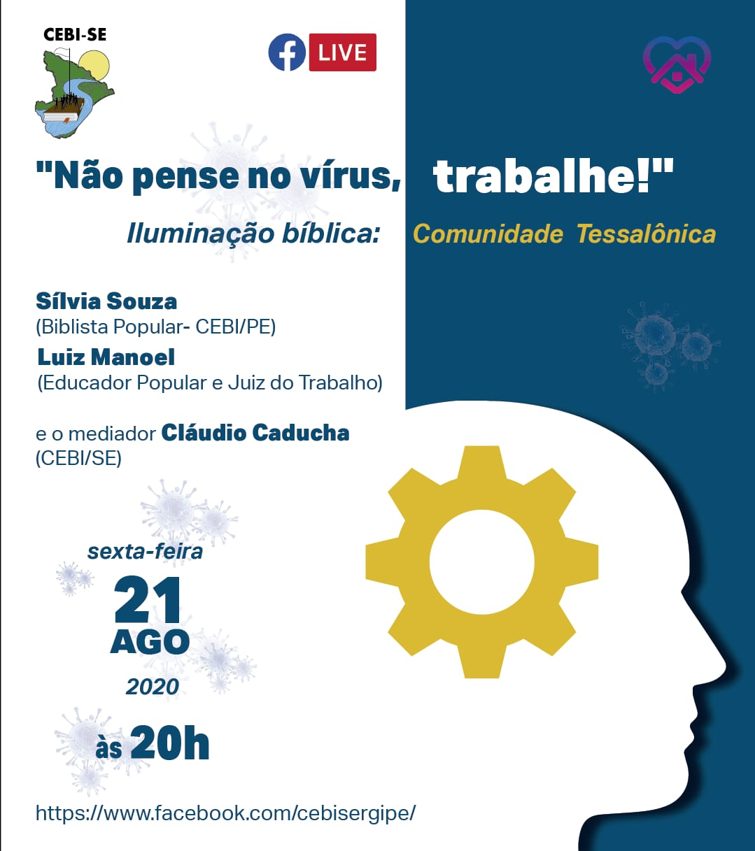 "CEBI Sergipe realiza live sobre"" pandemia e trabalho"""