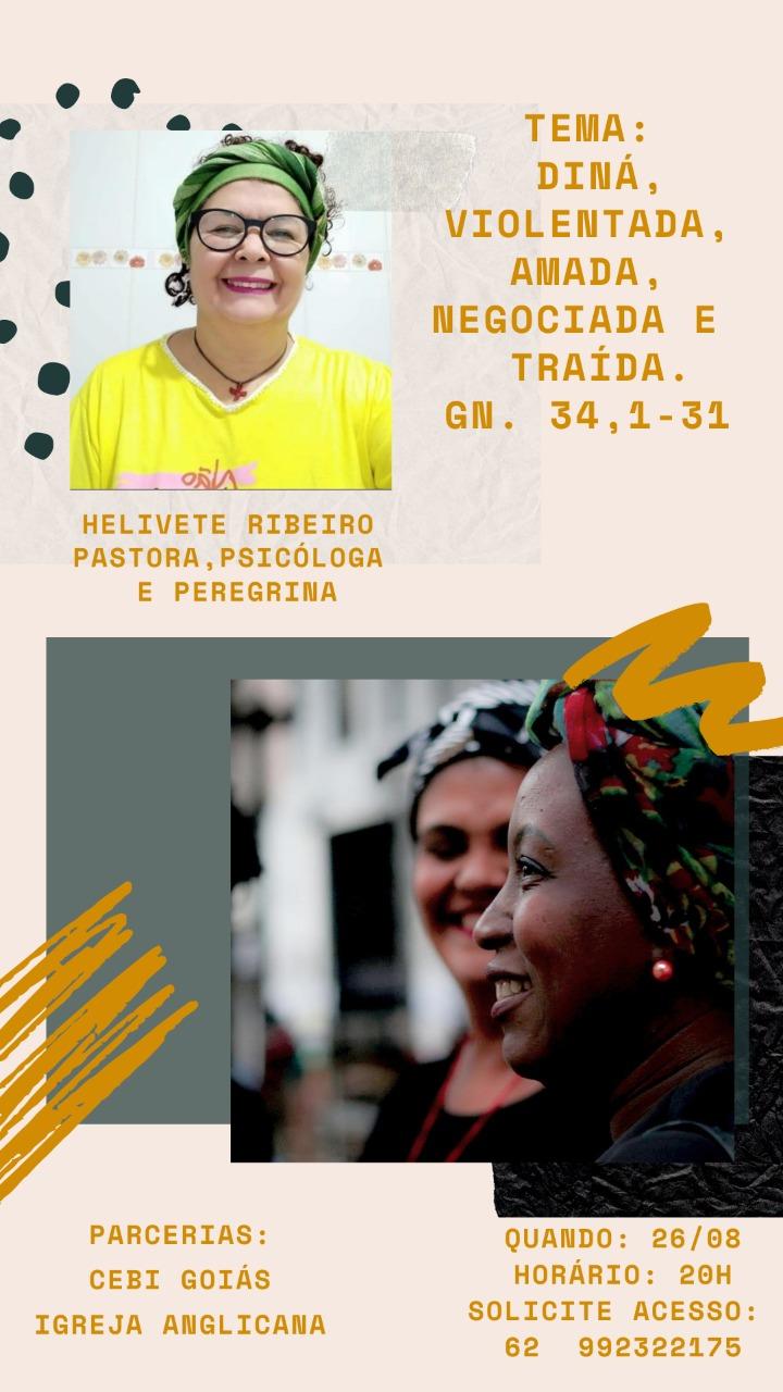 CEBI Goiás e Igreja Anglicana promovem a live sobre texto de Gn 34, 1-31