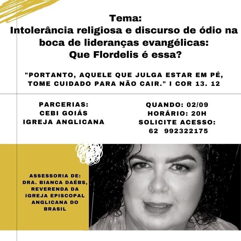 CEBI Goiás e Igreja Anglicana debatem intolerância religiosa e discurso de ódio