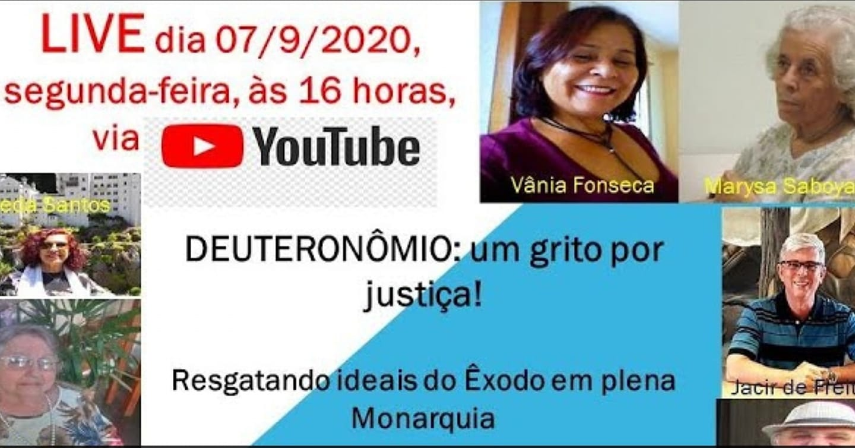 CEBI Minas Gerais realiza live sobre o Livro do Deuteronômio