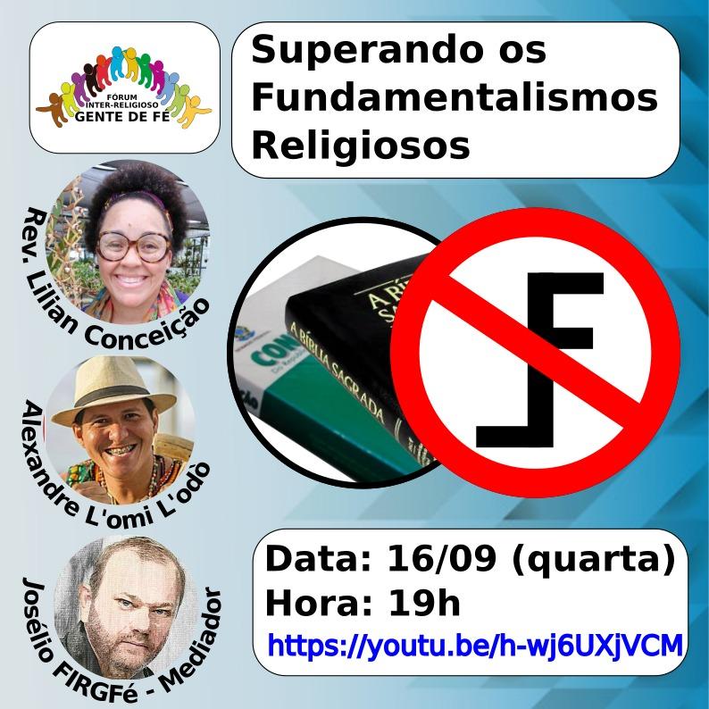 """""""Superando os fundamentalismos religiosos"""" é tema de live em Recife"""