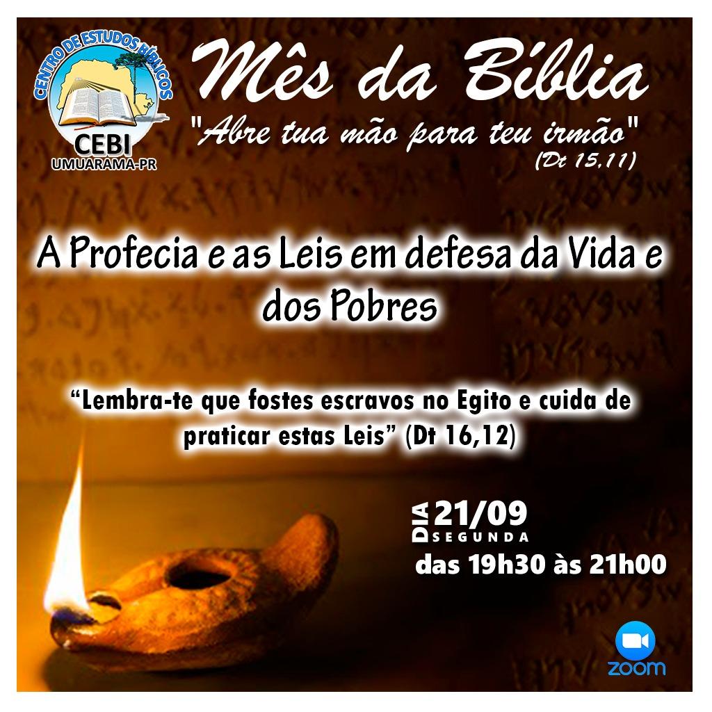 CEBI Umuarama realiza hoje seu 3ª Círculo Bíblico pelo Mês da Bíblia