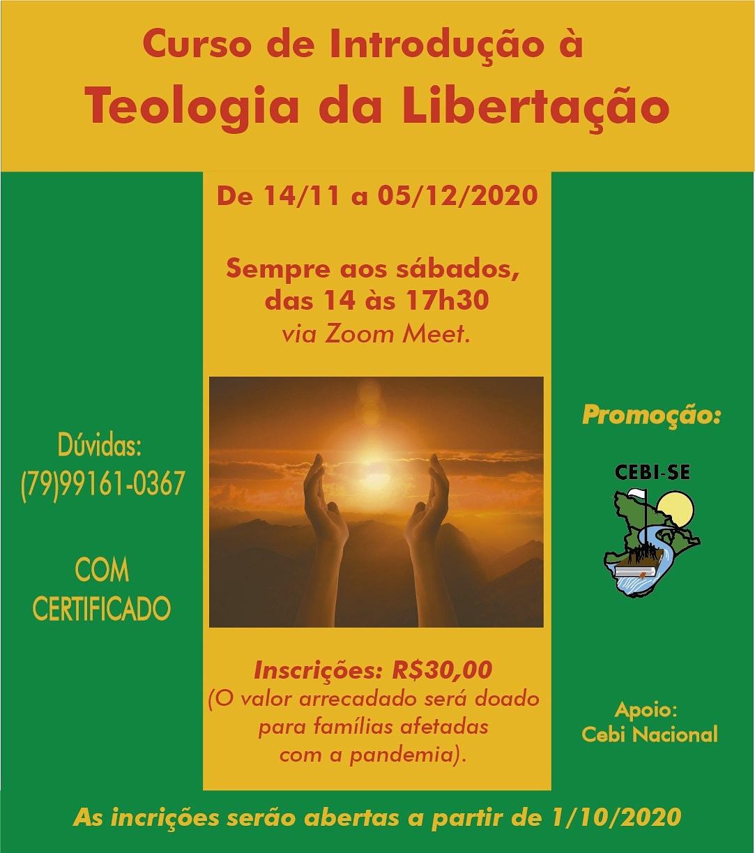 CEBI Sergipe realizará curso sobre Teologia da Libertação, com inscrições começando hoje