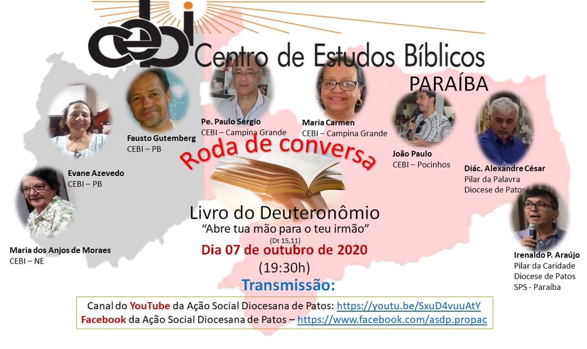 CEBI Paraiba tem Roda de Conversa sobre o livro do Deuteronômio
