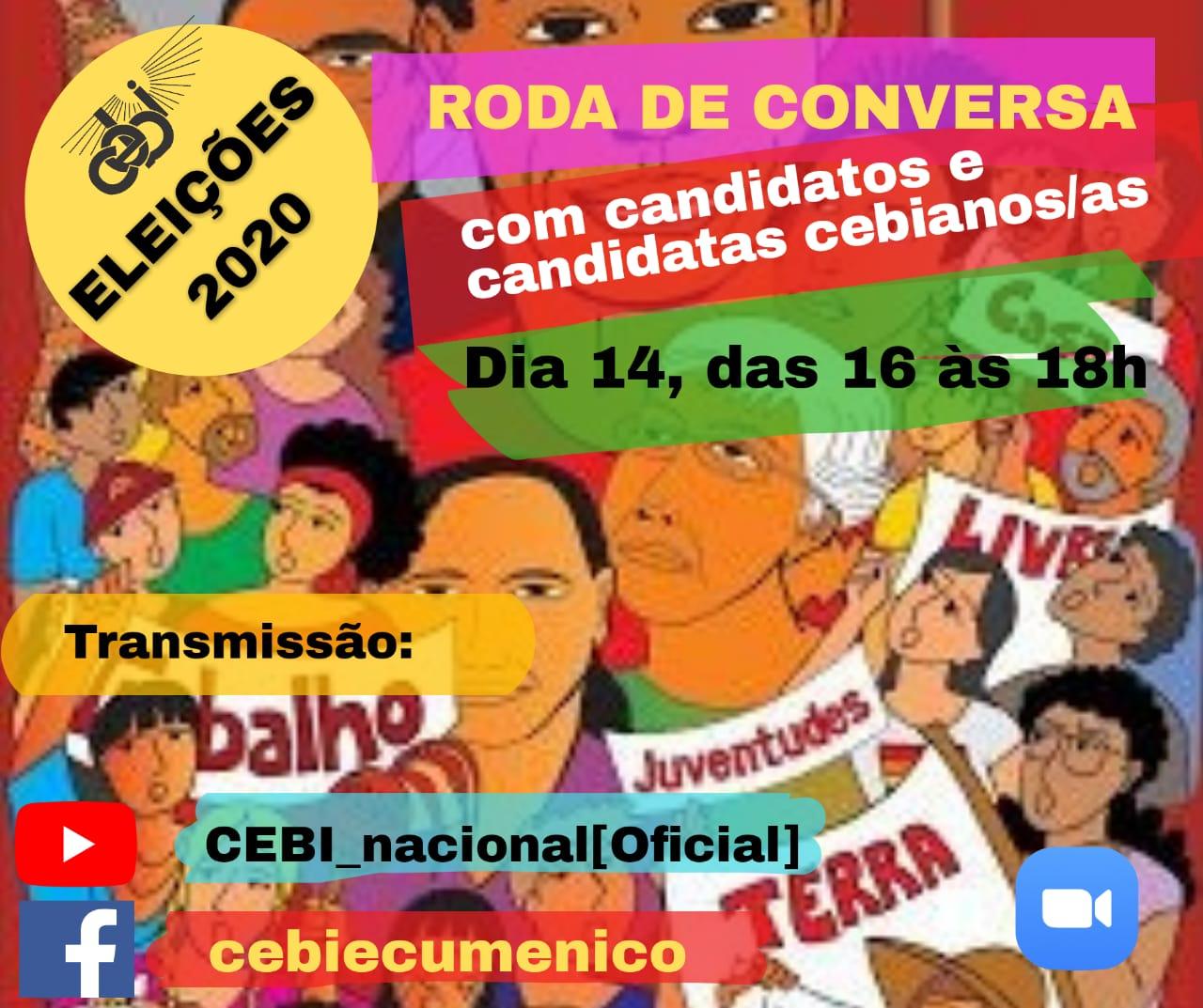 ELEIÇÕES 2020 –  CEBI Nacional realiza roda de conversa com candidatos e candidatas cebianos(as)
