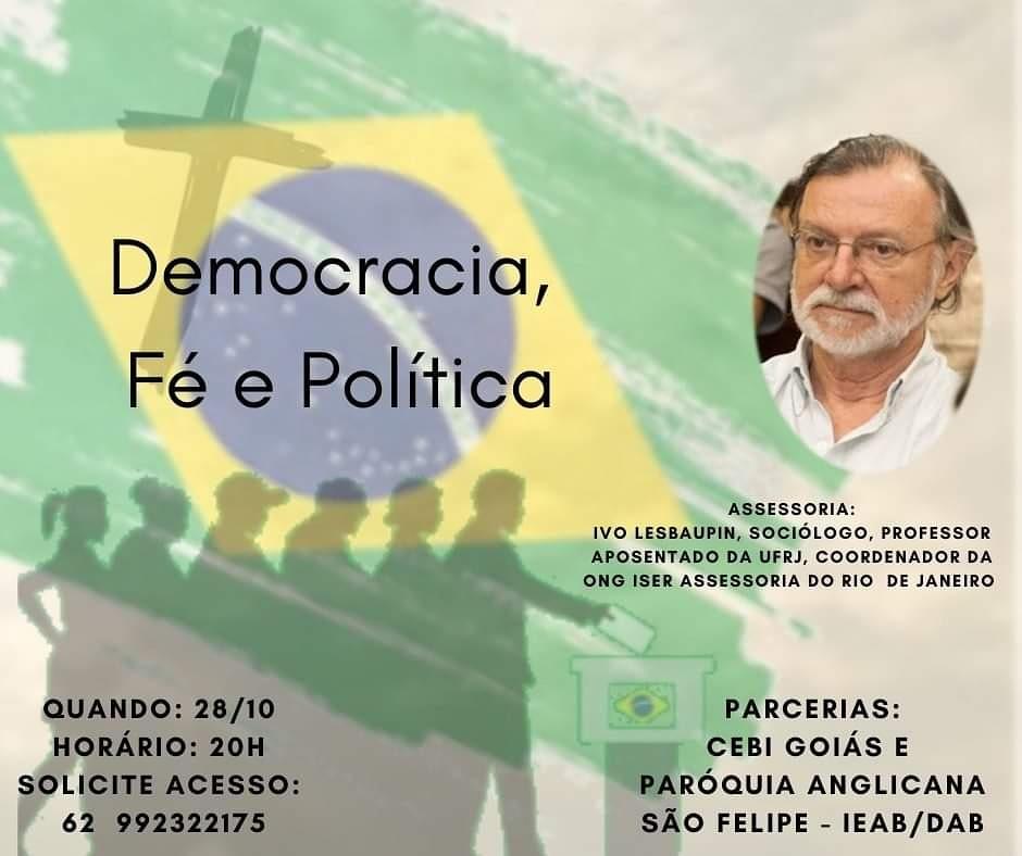 CEBI Goiás e Igreja Anglicana debaterão Democracia, Fé e Política