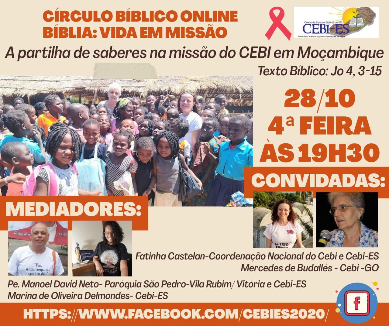 Círculo Bíblico do CEBI ES e a missão do CEBI em Moçambique