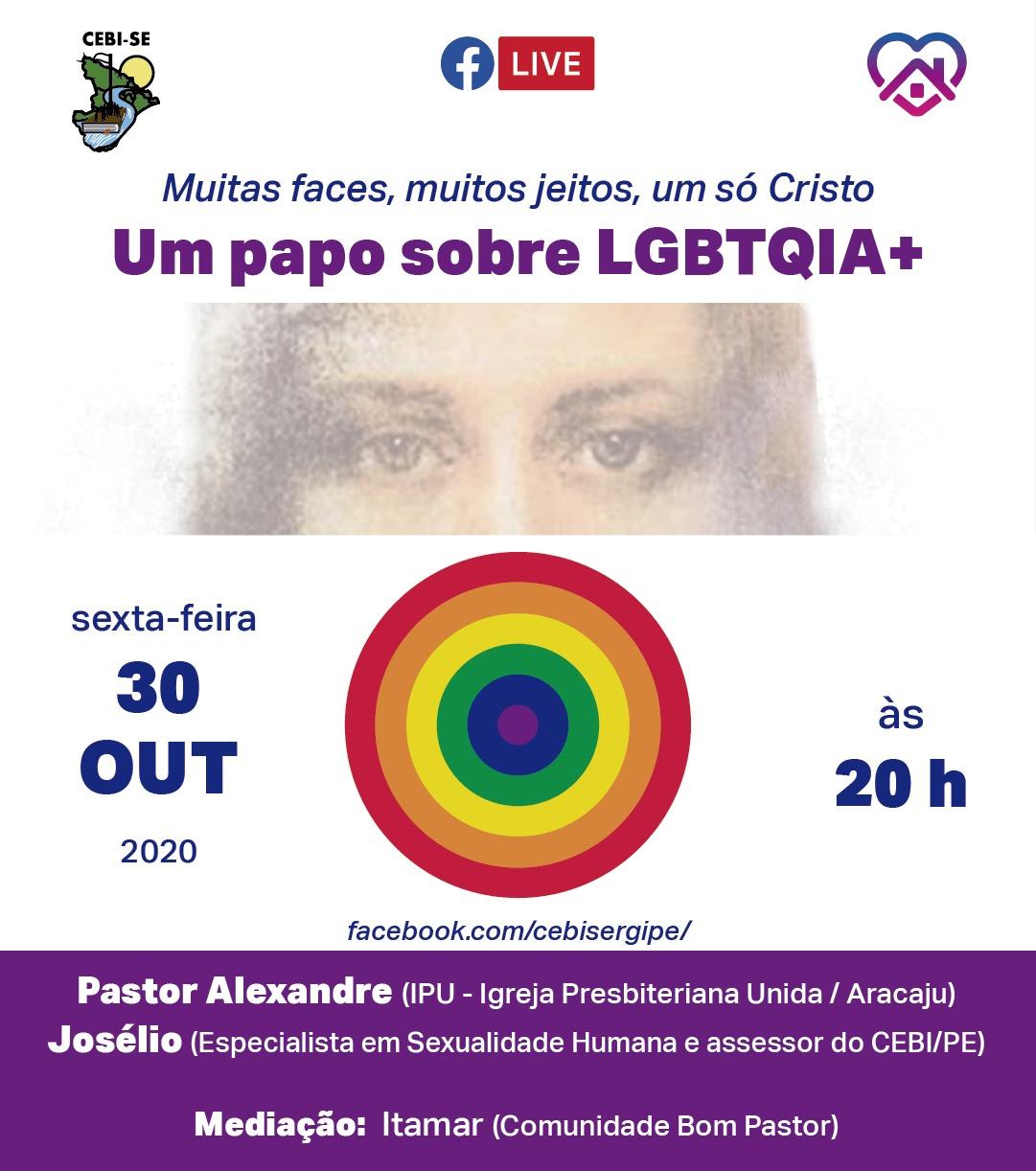 """""""Um Pabo sobre LGBTQIA+"""" é o tema da live do CEBI Sergipe nesta sexta"""