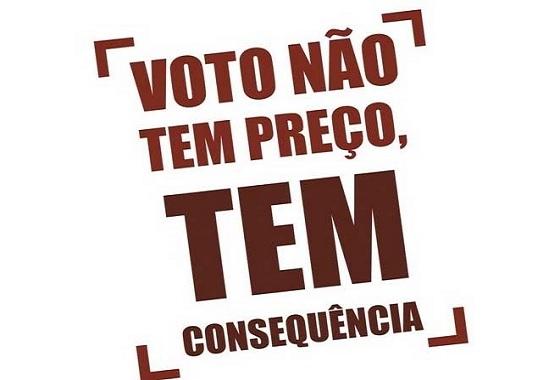 Vote pela democracia, pela justiça, paz e pela vida!