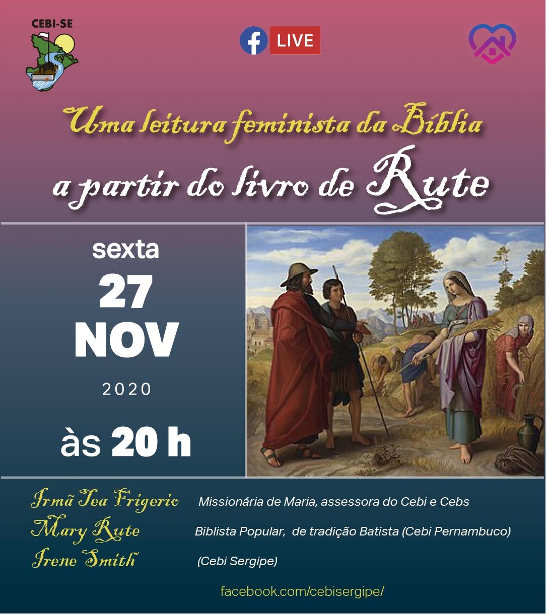 CEBI Sergipe terá live sobre a Leitura Feminista da Bíblia