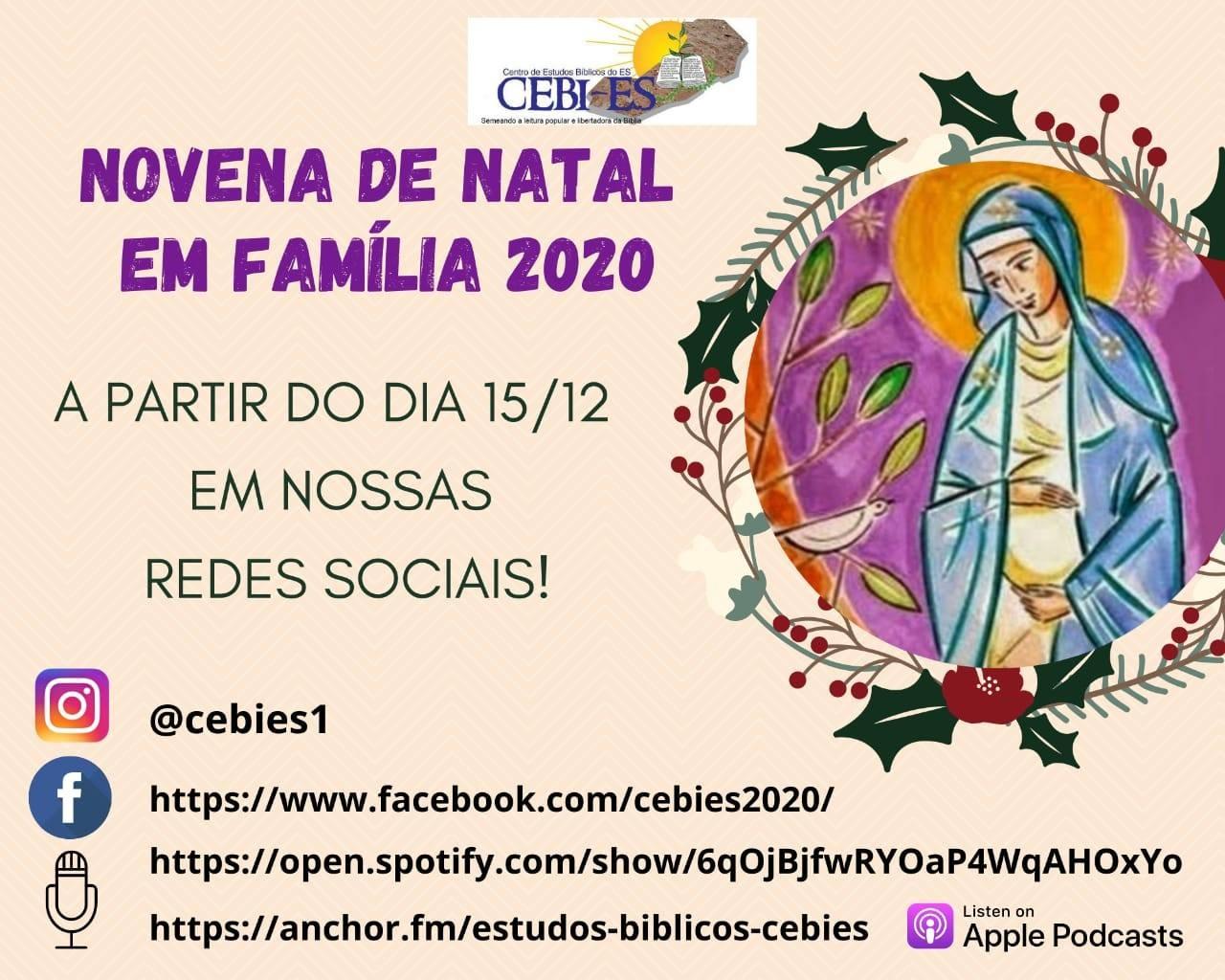 CEBI Espirito Santo – 1º Encontro da Novena de Natal em Família 2020