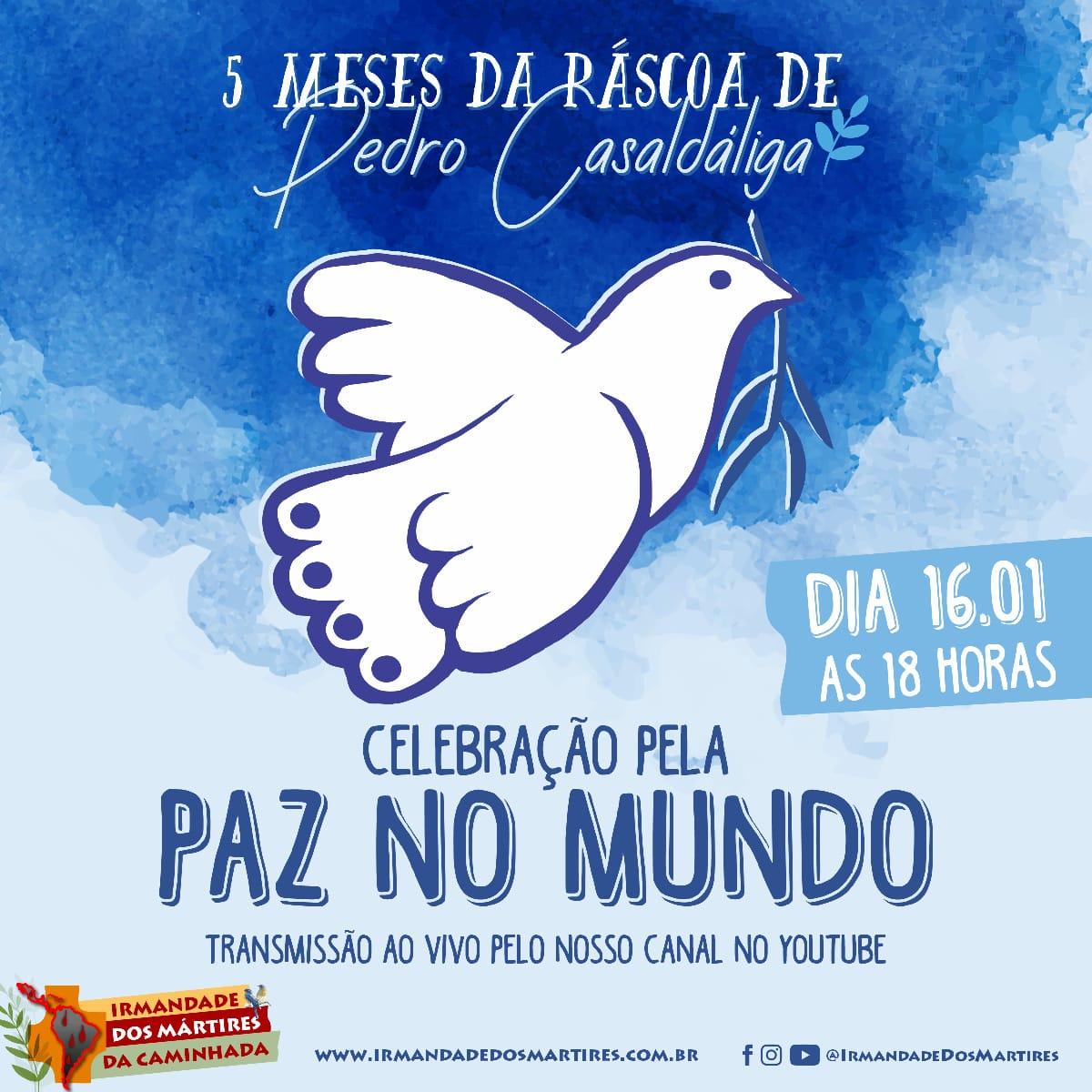 Ofício de Memória pelos 5 meses da Páscoa de Dom Pedro Casaldáliga