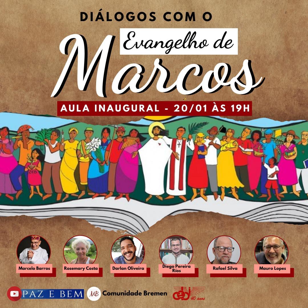 """Comunidade Bremén promove o Curso """"Diálogos com o Evangelho de Marcos"""" com aula inaugural amanhã(20)"""