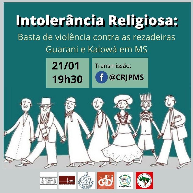 CEBI MS realizará live sobre intolerância religiosa nesta quinta(21)