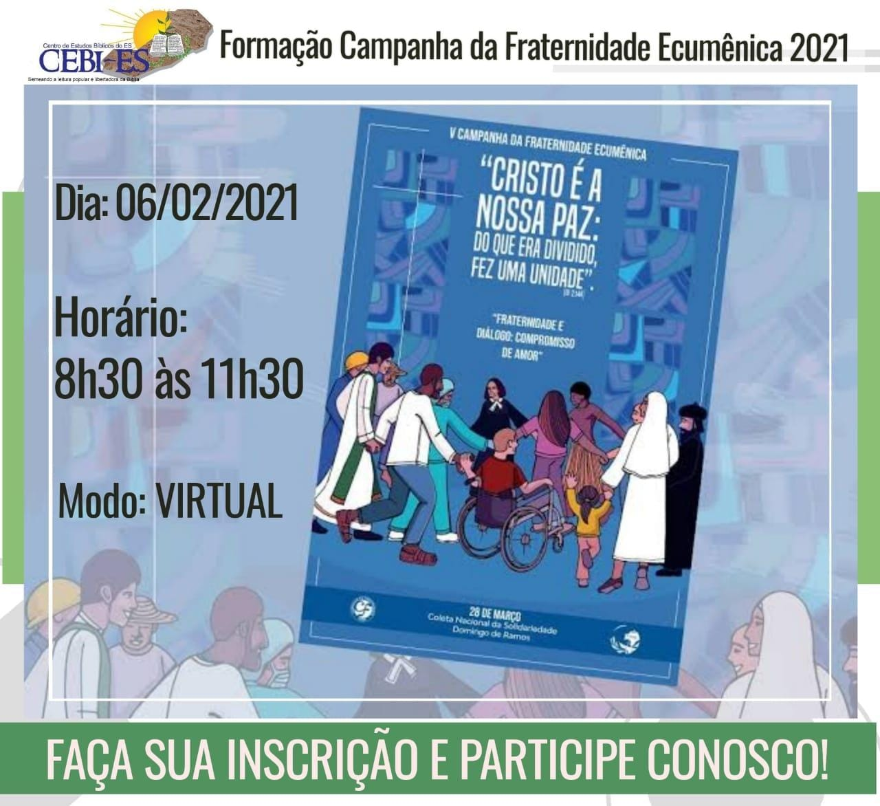 CEBI Espírito Santo realizará formação sobre a CFE 2021