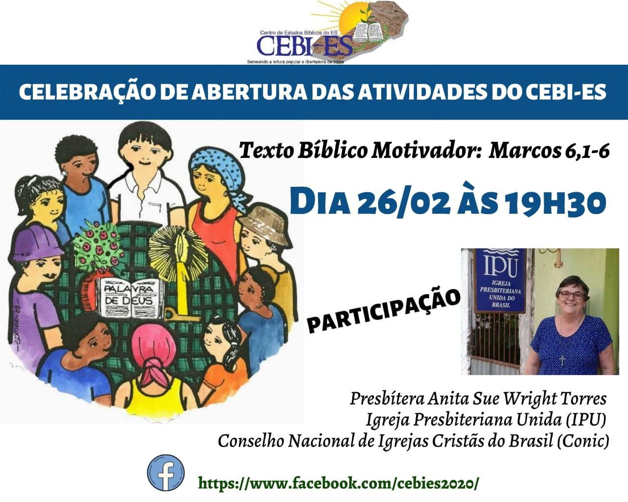 Celebração de abertura das atividades do CEBI ES