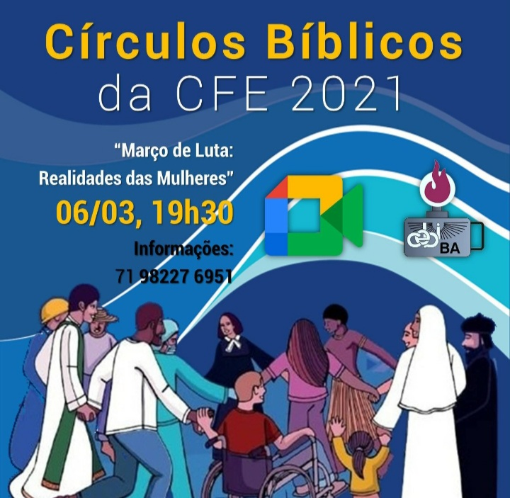 "CEBI Bahia – Círculo Bíblico debaterá ""março de lutas das mulheres"""