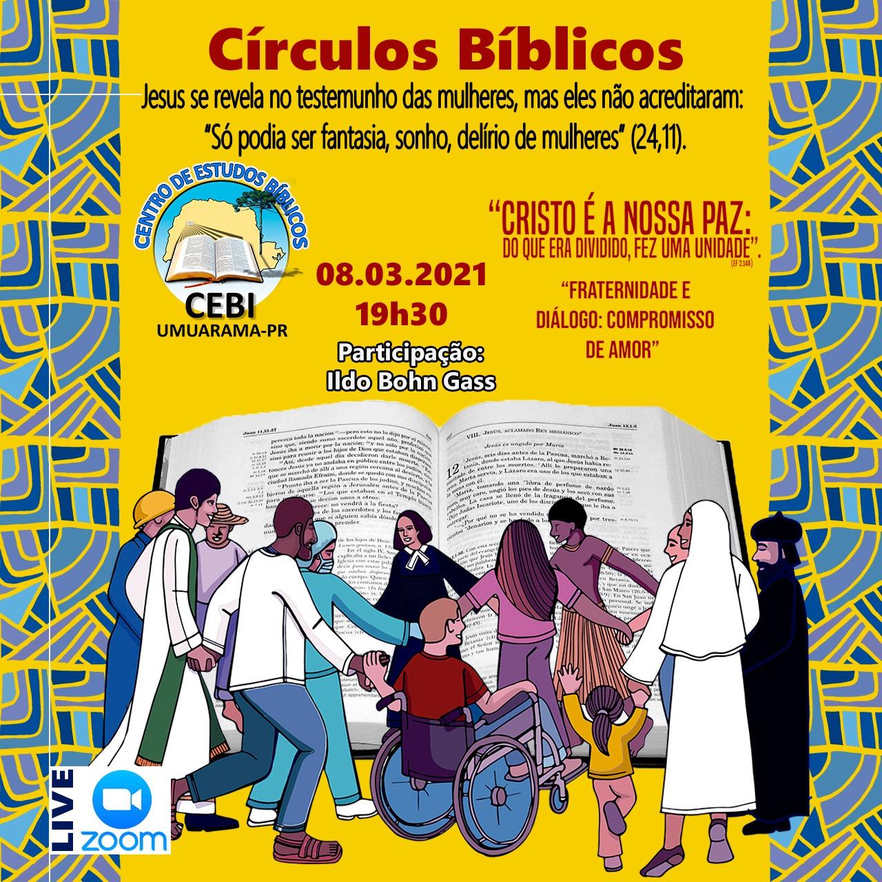 Círculo Bíblico do CEBI Umuarama refletirá sobre a CFE 2021 e o testemunho das mulheres (Lc 24, 11)