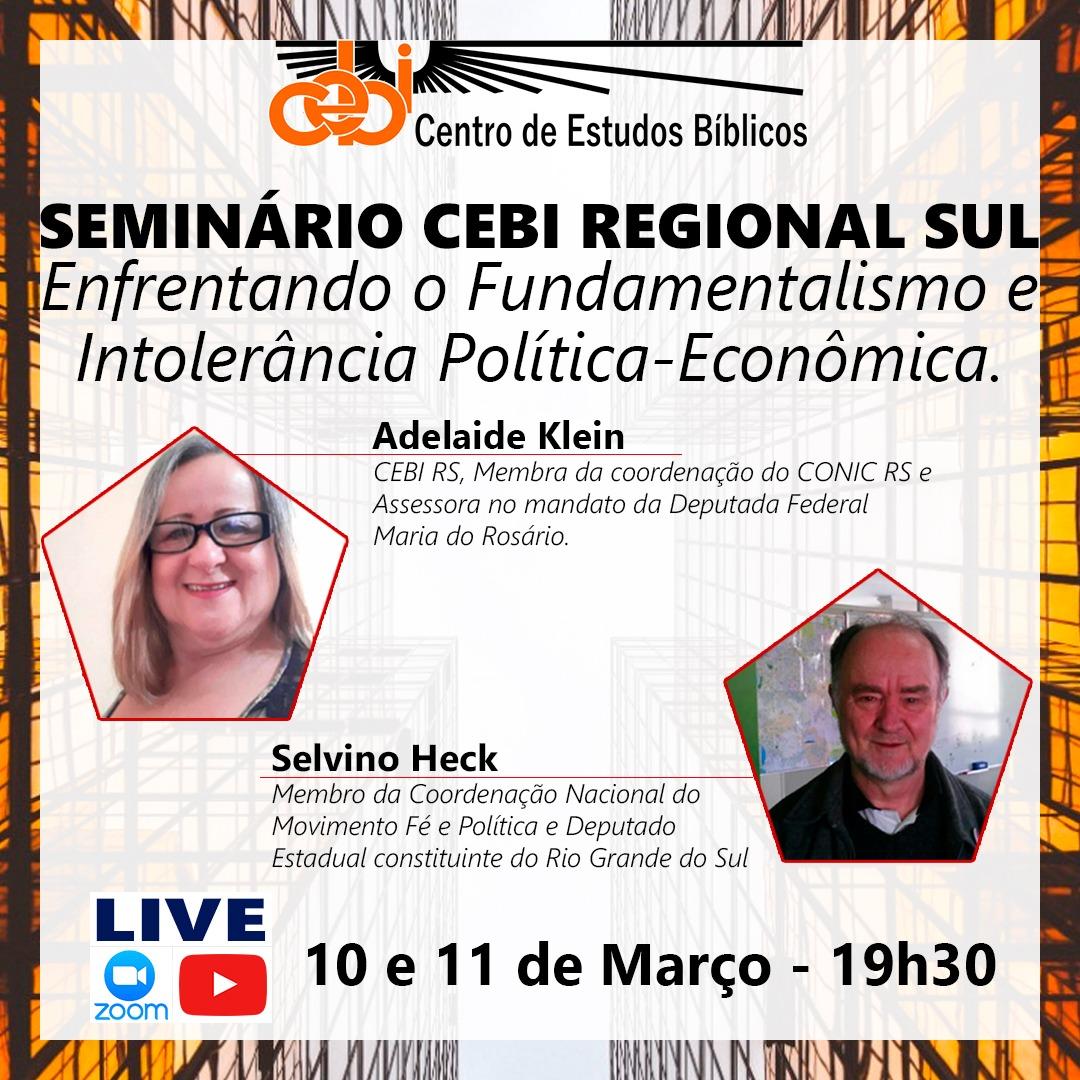 """CEBI Regional Sul realiza Seminário """"Enfrentando o Fundamentalismo e Intolerância Politica-Econômica"""