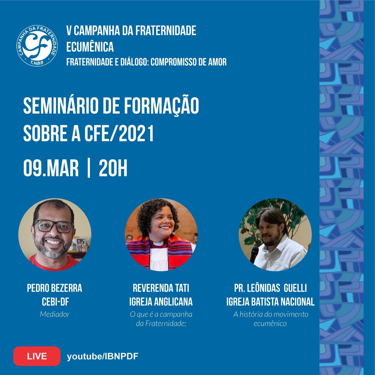 CEBI Planalto Central no apoio ao Seminário de Formação sobre a CFE 2021