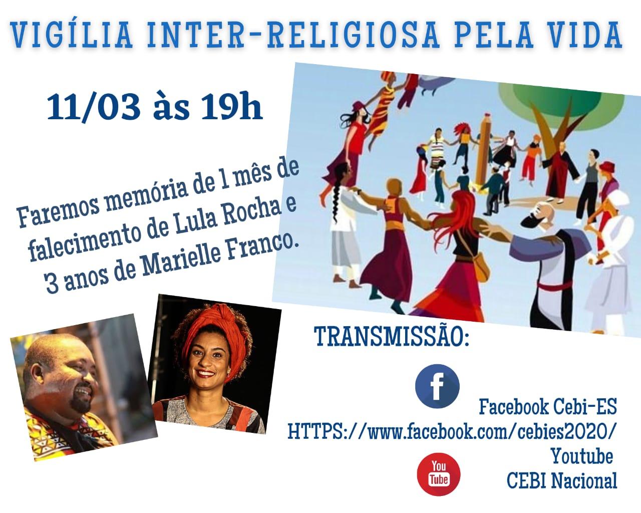 CEBI ES realiza hoje Vigília em memória dos ativistas dos DHs, Lula Rocha e Marielle Franco