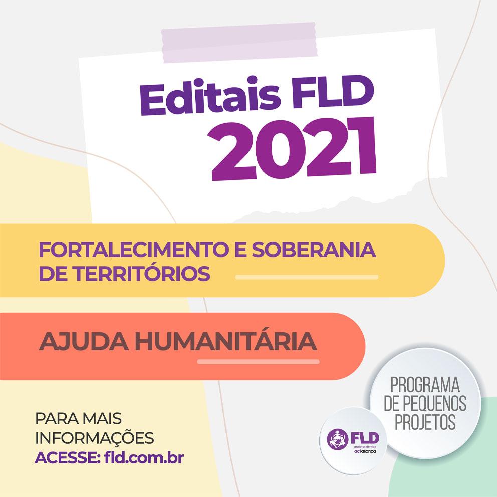 Editais 2021 – FLD lança editais para apoiar projetos de fortalecimento e soberania de grupos e territórios e de ajuda humanitária frente à pandemia de Covid-19