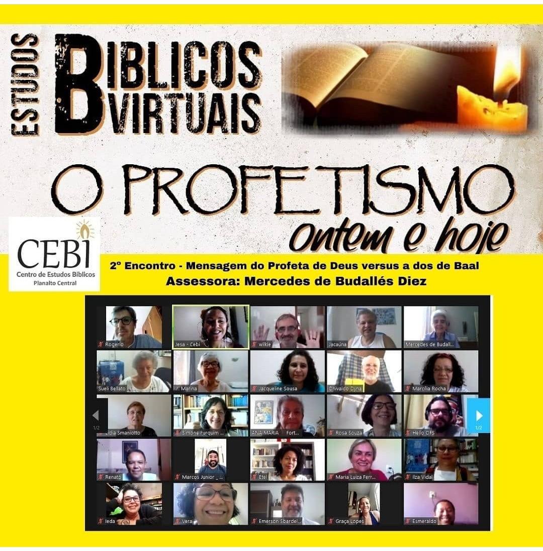 """CEBI Planalto: Estudos bíblicos """"Profetismo ontem e hoje, 2º encontro(Memória)"""