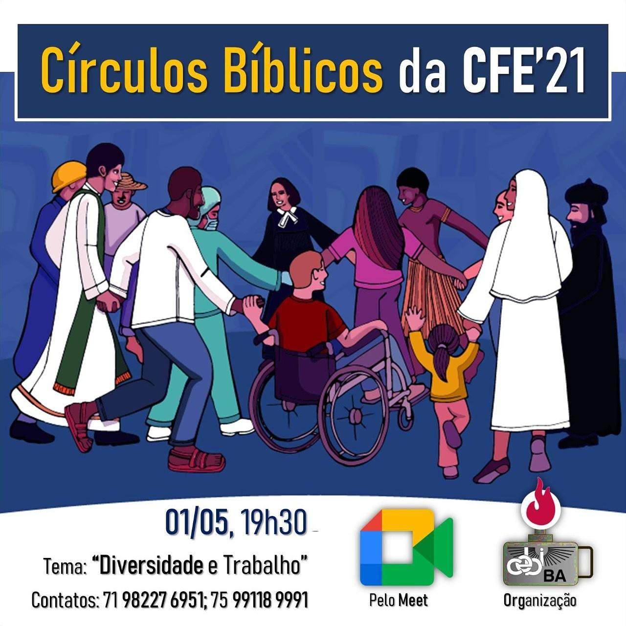 """CEBI Bahia lembrará o Dia do Trabalhador refletindo sobre """"Diversidade e Trabalho"""""""