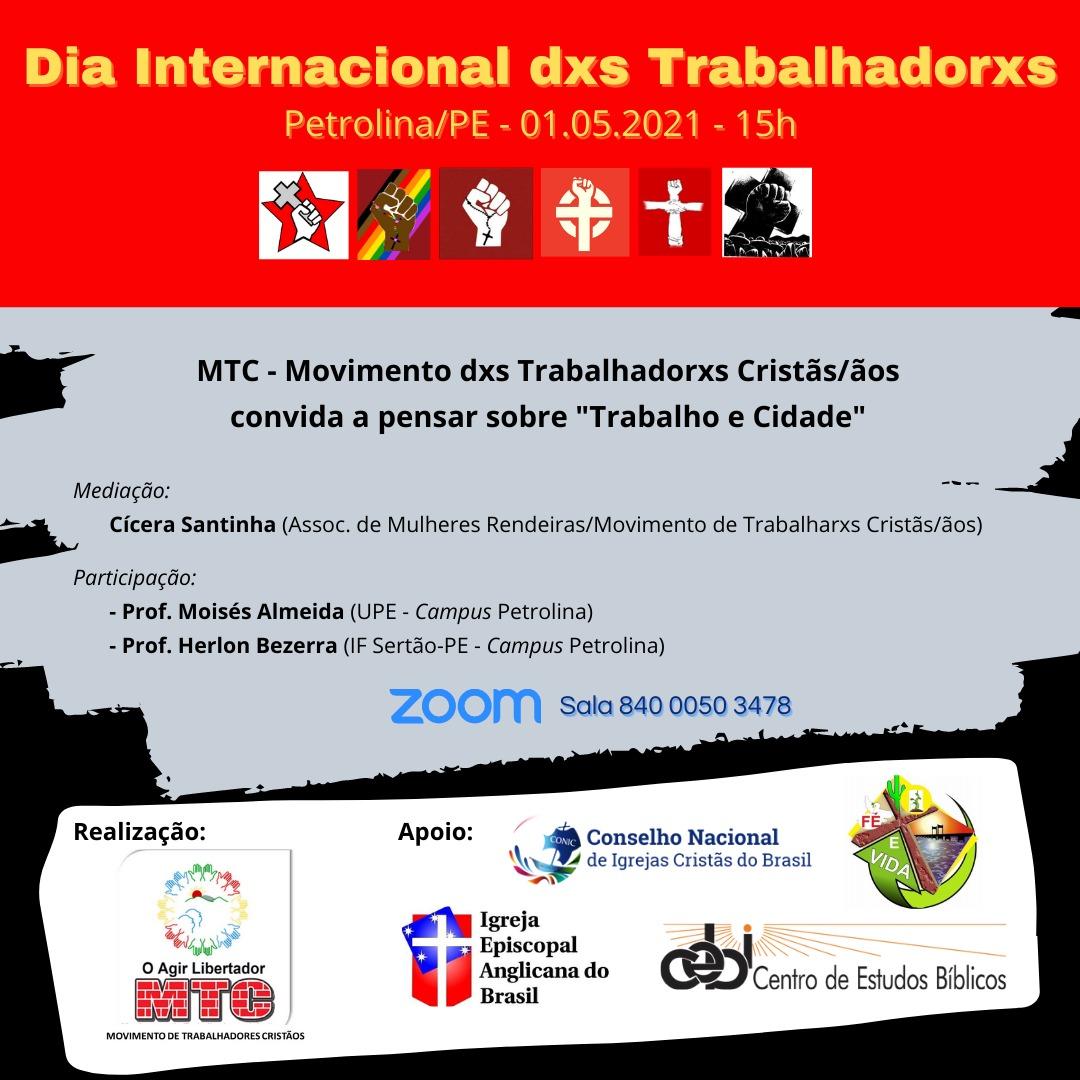 CEBI Petrolina(PE) e o Dia Internacional do Trabalhador(a)