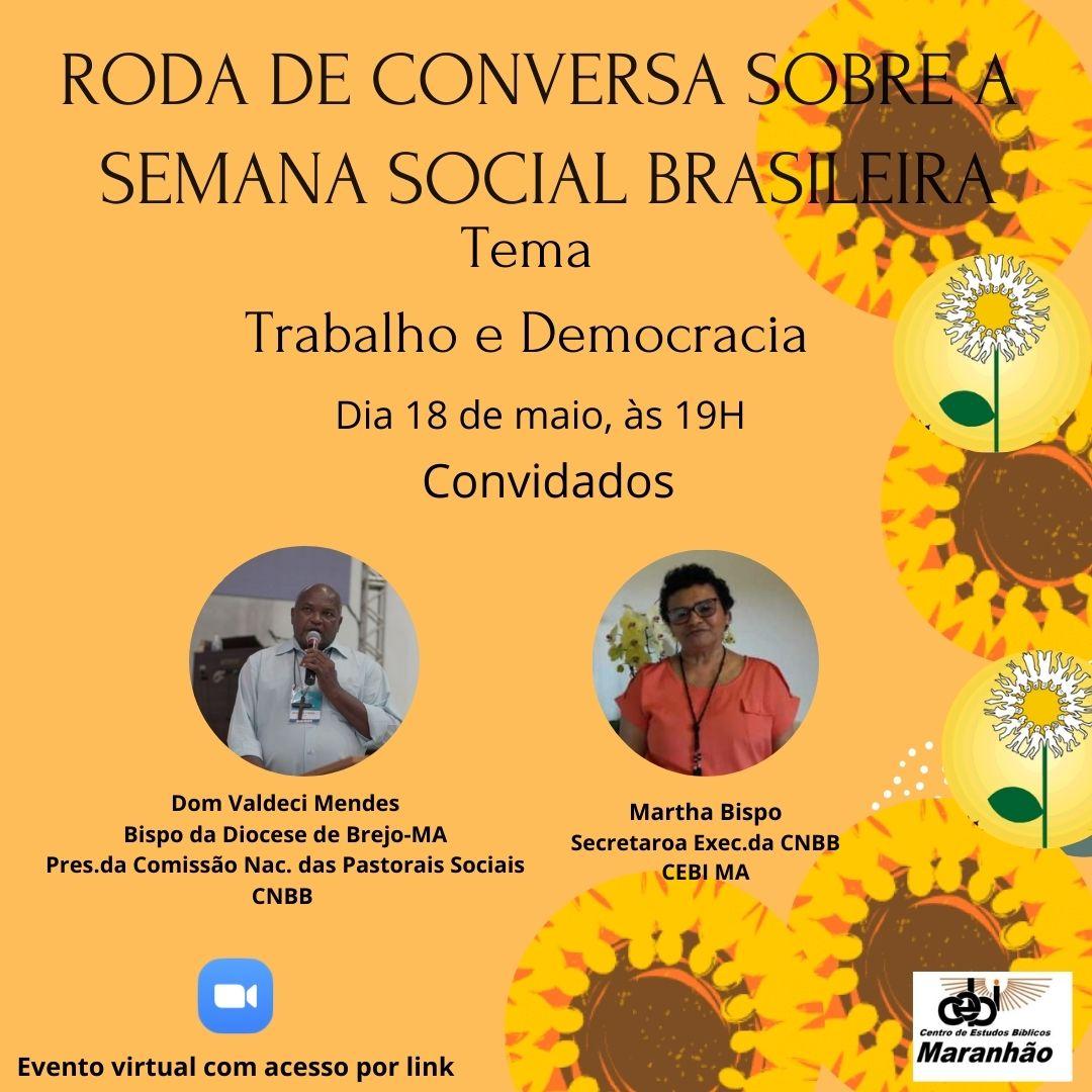 CEBI Maranhão promove Roda de Conversa sobre a Semana Social Brasileira