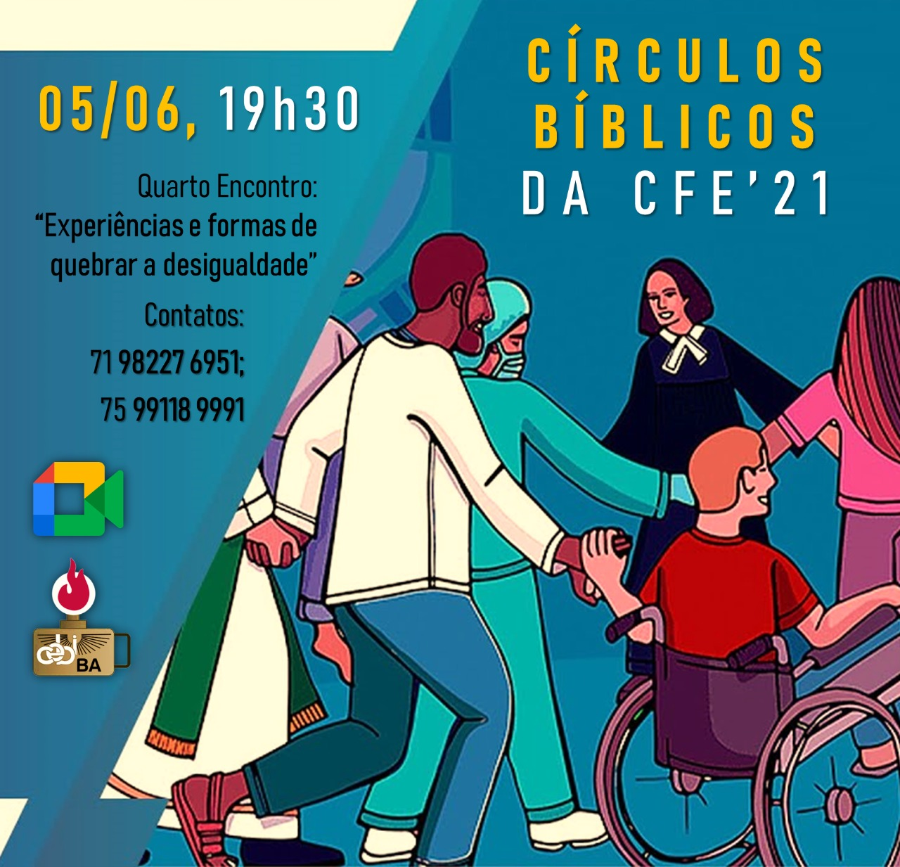 Neste sábado,5, acontece o Circulo Bíblico do CEBI Bahia