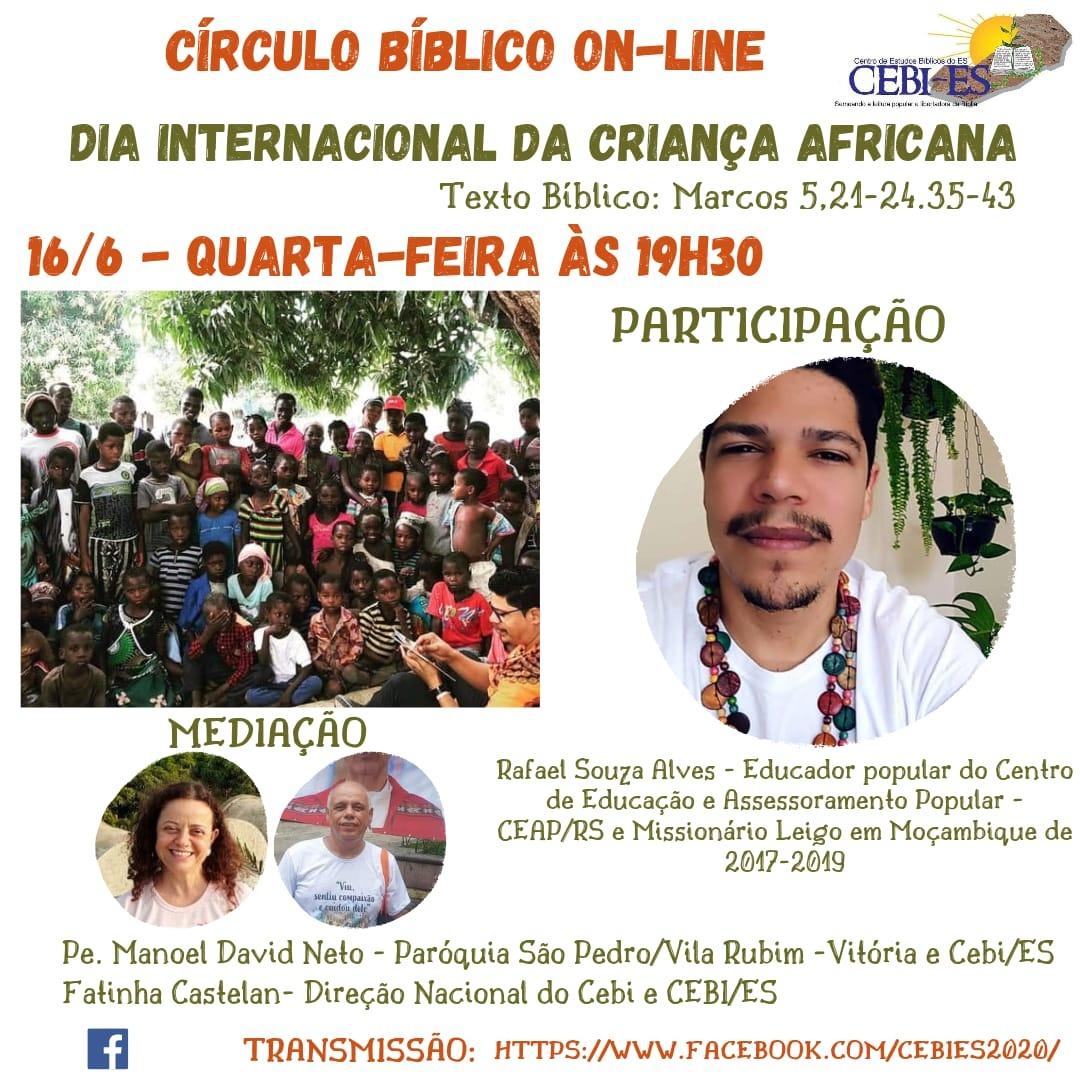 Dia Internacional da Criança Africana no Circulo Bíblico do CEBI ES