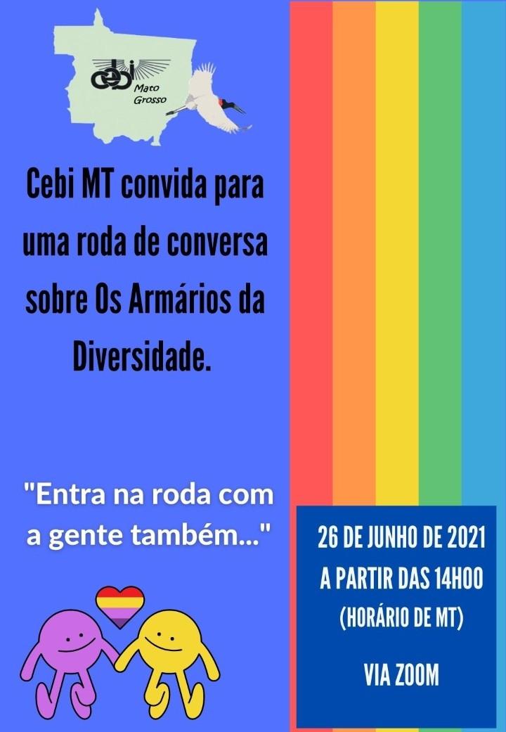 """CEBI Mato Grosso promove Roda de Conversa sobre """"Os Armários da Diversidade"""""""
