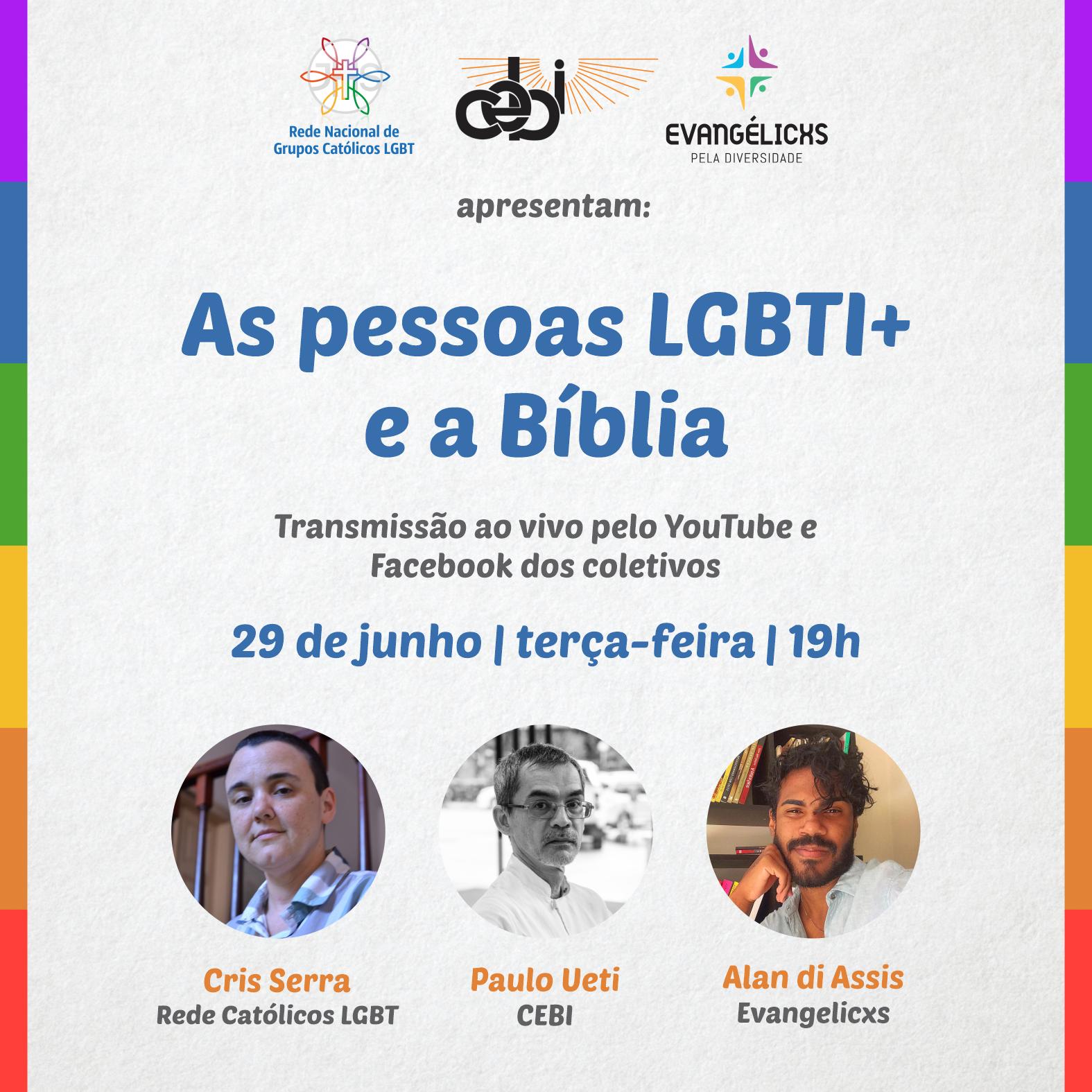 """Campanha #OrgulhoCelebracomFé realiza amanhã(29), a LIVE """"As pessoas LGBTQI+ e a Biblia"""""""