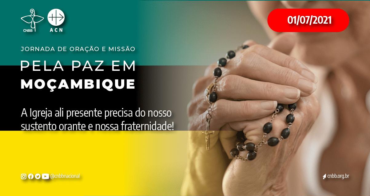 CNBB divulga video de mobilização para a Jornada de Oração e Missão dedicada à paz no Paz em Moçambique no dia 1º de Julho