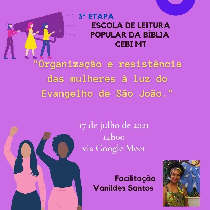 CEBI Mato Grosso realiza neste sábado a sua Escola de Leitura Popular da Bíblia (3ª Etapa)