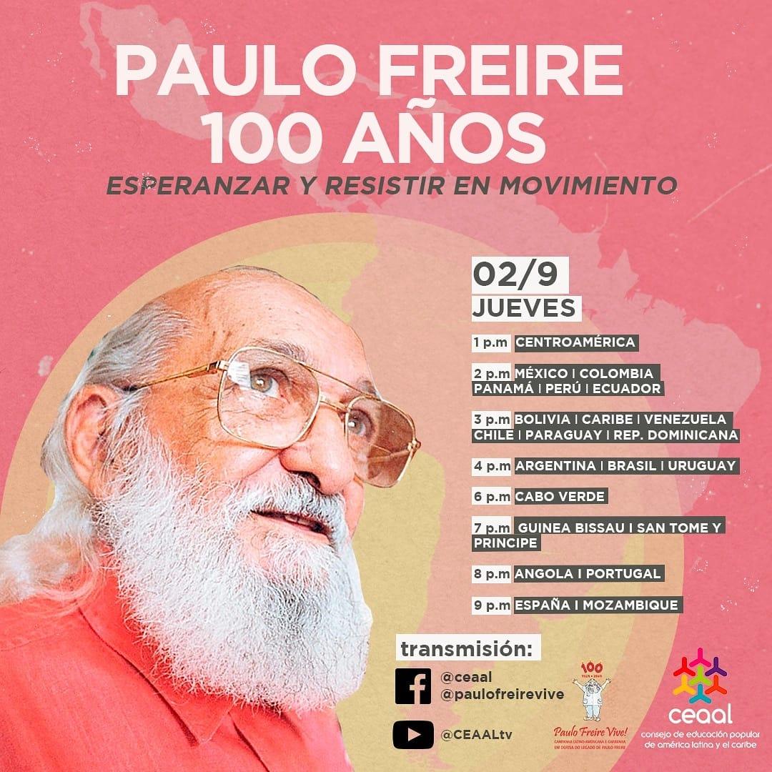 Webinar amanhã(2) : Paulo Freire 100 anos – Esperançar e Resistir em movimento