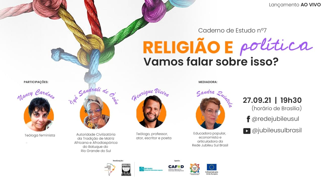 Jubileu Sul Brasil lança caderno de estudo Religião e Política: vamos falar sobre isso?