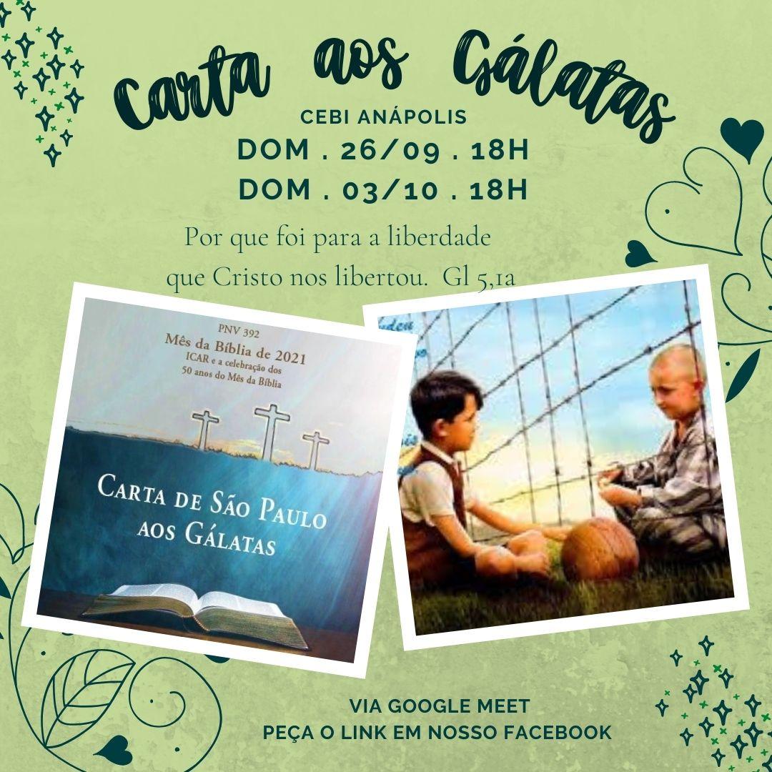 CEBI Anápolis promove encontros pelo Mês da Bíblia 2021-ICAR