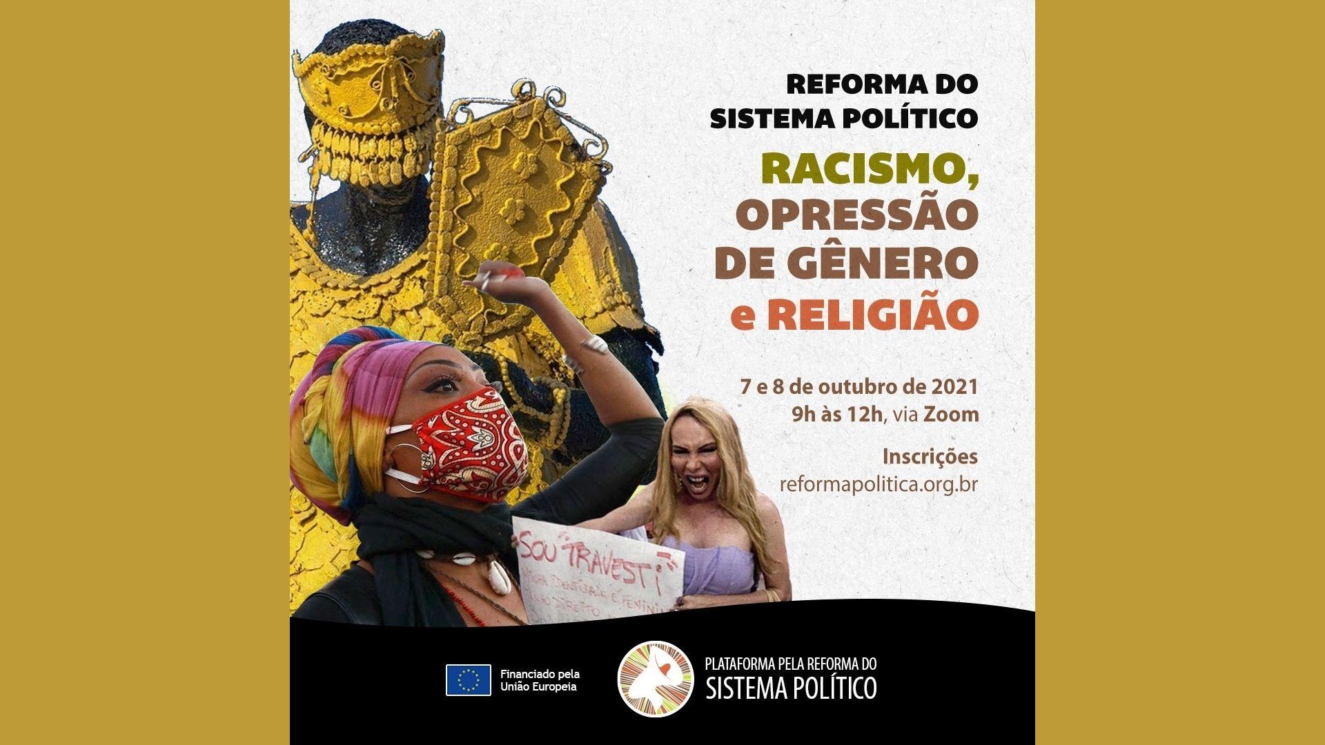 Inscrições abertas: Racismo, Opressão de Gênero e Religião