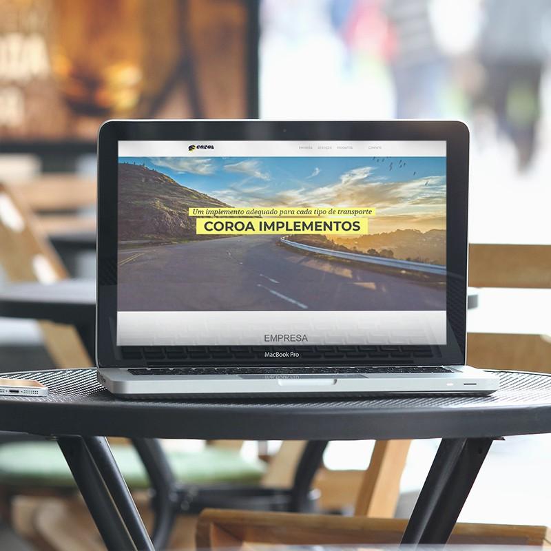 Website Coroa Guerra
