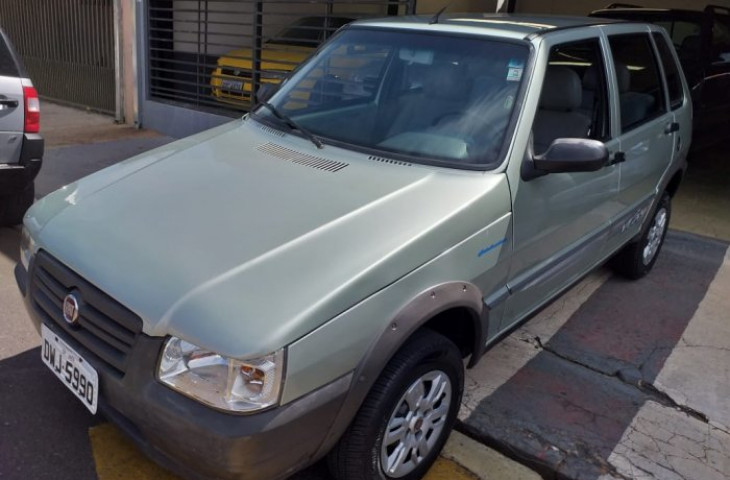 FIAT UNO 1.0 MPI MILLE WAY ECONOMY 8V FLEX 4P MANUAL Usado