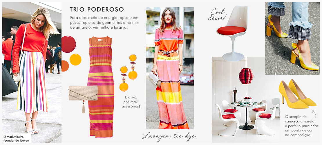 Mix and match: O trio geometric, red & yellow