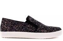 Tênis Shop Slip On Glitter Grosso Furta Cor Preto