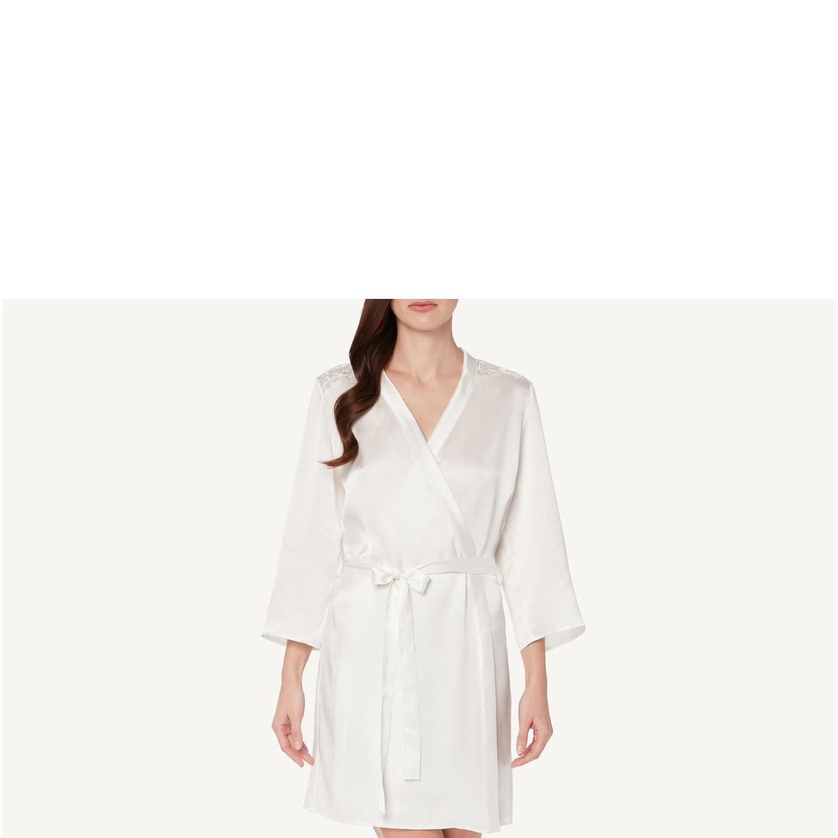 Robe De Seda Blooming Embroidery - Branco